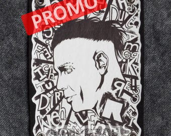 PROMOTION! -Patch / detachable bib with RAMMSTEIN drawing, accessory handmade bag or garment