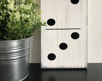 Domino Sign, Large Domino, Family Domino Sign, Wooden Domino Sign, Collage Sign, Wall Decor, Gifts under, 5.5 X 9 inches