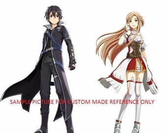 Sword art online hollow realization cosplay costume, made to order, custom made, Asuna, Kirito