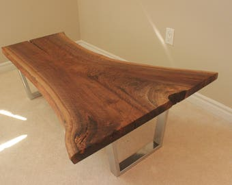 Custom Black Walnut Live Edge Coffee Tabke