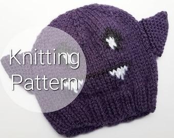 Bat Halloween Hat - Halloween Bat Costume - Baby Halloween Costume - Toddler Halloween Outfit - First Halloween Hat - PATTERN!