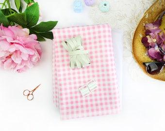 Mimi Bikini Scuba! Sewing kit - Pastel Pink Gingham