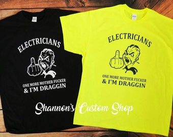 IBEW Electrical Union inspired t-shirt.  Electrician.  Electrician husband. Electricians wife.