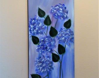 Acrylic Canvas Painting - Hydrangeas