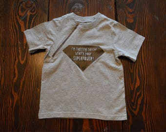 Superpower zipper shirt