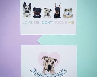 Love Me, Don't Judge Me Postcard Set - Zabby Allen Collaboration