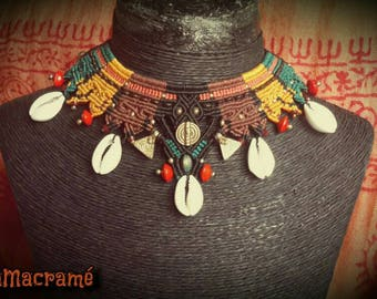 Unique Tribal macramé necklace
