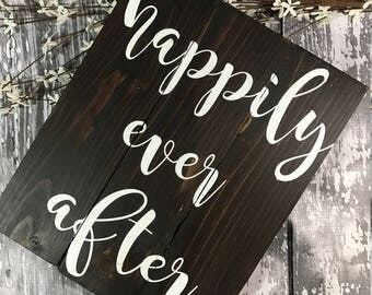Happily Ever After Sign - And They Lived Happily Ever After - Wedding Sign - Wedding Decor - Rustic Wedding Decor - Master Bedroom Sign