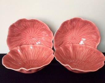 Set of 4 Metlox Lotus Rose Cereal Bowls
