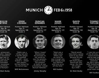 Manchester United Busby Babes Canvas