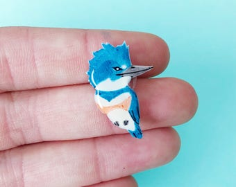 Belted Kingfisher pin