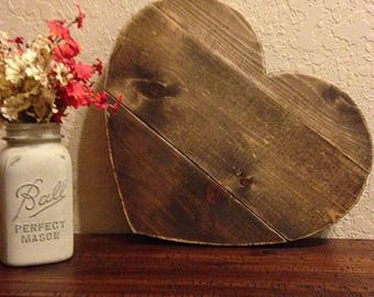 wooden heart | wooden heart sign | rustic wooden heart | rustic heart | rustic wall decor | farmhouse decor