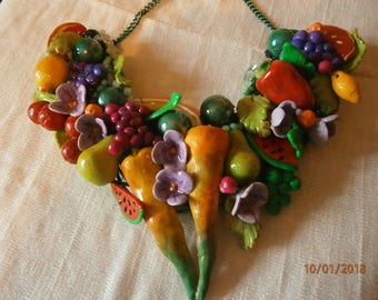 Flowers and fruits in polymer clay