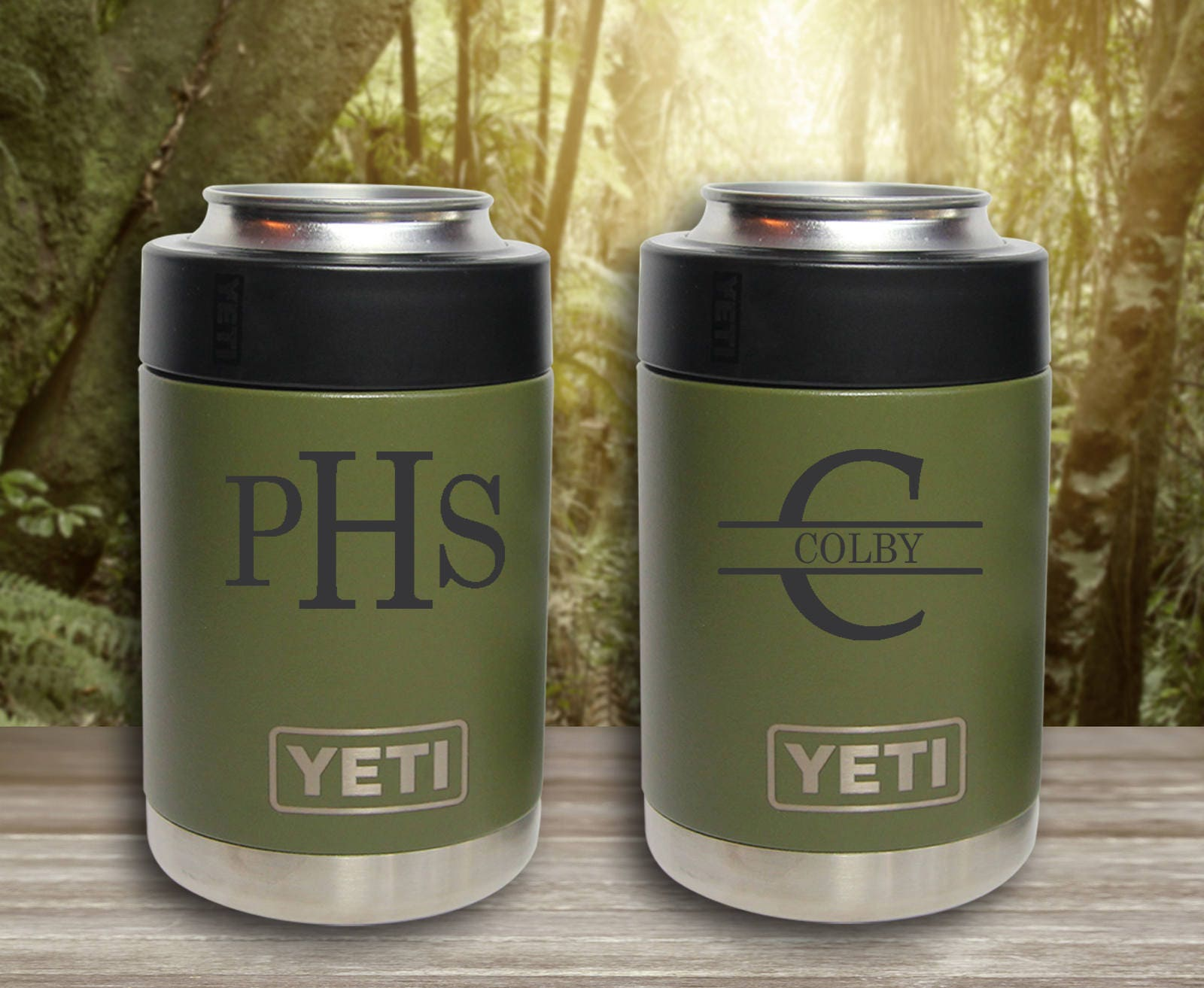 Yeti Can Cooler ~ Powder coated yeti colster engraved custom can cooler