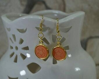 """Earrings """"Star salmon"""""""