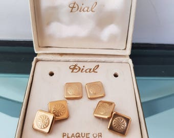 VINTAGE gold plated cuff links