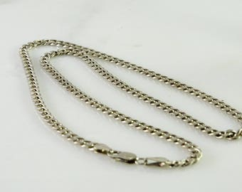 """Curb Link Neck Chain 20"""" Sterling"""
