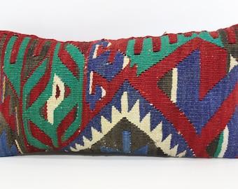 Bohemian Kilim Pillow Naturel Kilim Pillow 10x20 Naturel Kilim Pillow Geometric Kilim Pillow Turkish Kilim Pillow SP2550-1060