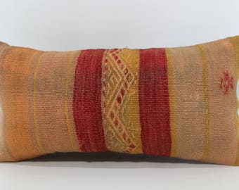10x20 Handwoven Kilim Pillow Floor Pillow 10x20 Turkish Kilim Pillow Ethnic Pillow Bohemian Kilim Pillow Cushion Cover SP2550-1231
