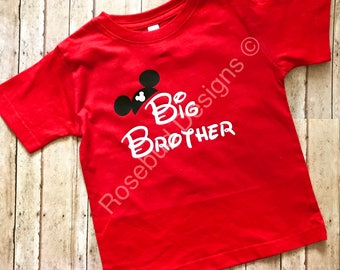 Disney Inspired Pregnancy/Maternity/ Family announcement shirts for big brother or big sister
