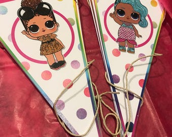 NEW! LOL Surprise Doll Happy Birthday Party Banner, Printed and shipped to you, Series 1, 2, 3, Little Sisters, or Pets too!
