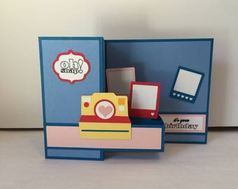 Happy Birthday Camera ZFold Card