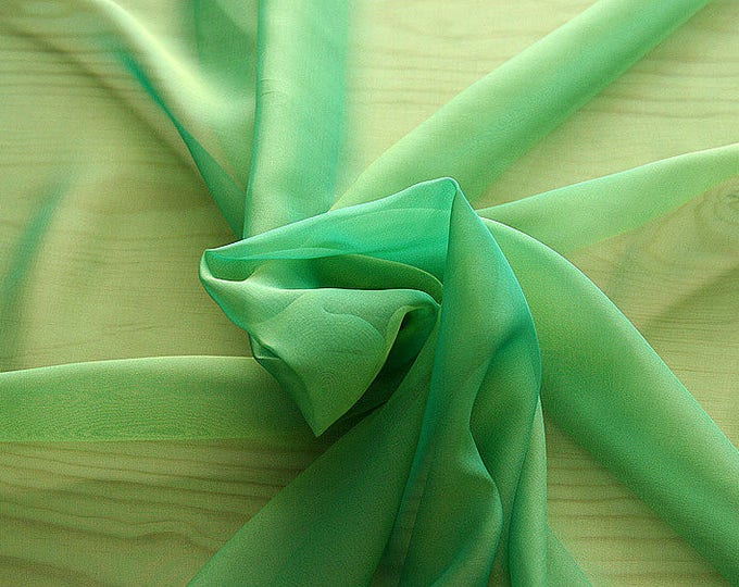 221081-Mouseline natural Silk Cangiante 100%, width 135/140 cm, chiffon litmus, made in Italy, dry washing, weight 35 gr
