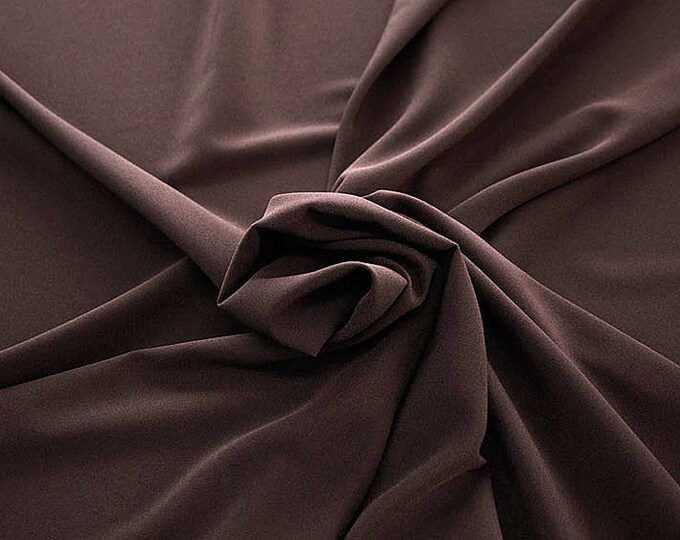 905115-Crepe 100% Polyester, width 150 cm, made in Italy, dry washing, weight 306 gr