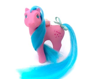 G1 My Little Pony Wing Song Flutter Ponies 1985 Winged Butterfly Pink Music Notes MLP Vintage Blue Hair Pastel 80s Toys Original Chire Wings
