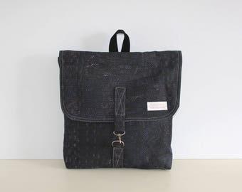 Canvas Backpack, Rucksack Backpack, Travel Backpack, Women Backpack, Laptop Backpack, Gift for Her, Gift for Him, Bohemian Backpack, Black