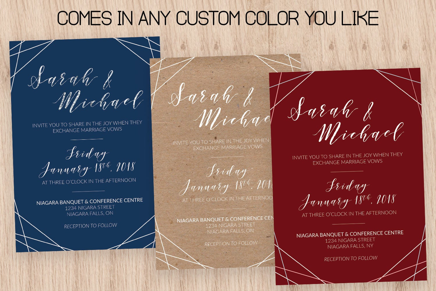 Wedding Invitation Template, Modern Wedding Invitation, Printable ...