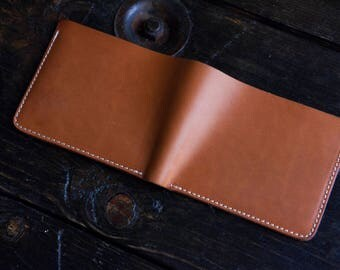 Sun-Soaked Natural Vegetable Tanned Wallet Natural Vegtan Bifold Wallet