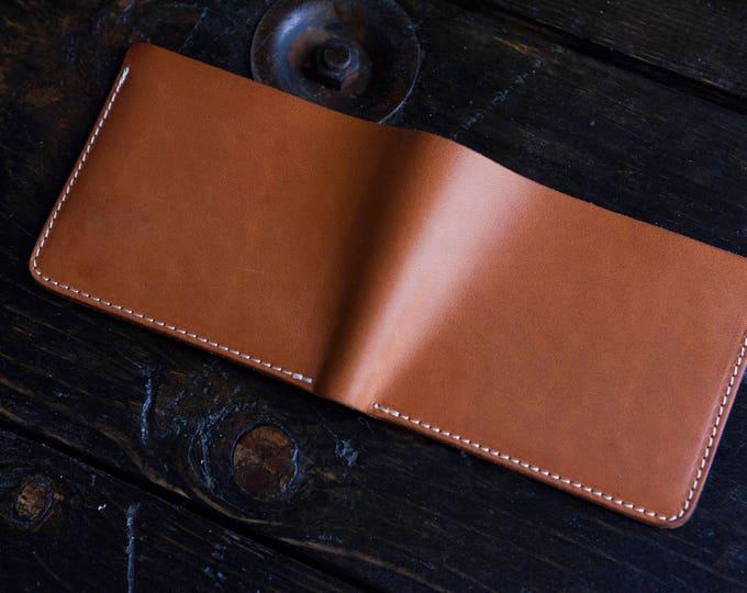 Sun-Soaked Natural Vegetable Tanned Wallet Natural Vegtan Bifold Wallet