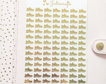 Foil Gym Shoe/Trainer Stickers | Planner Stickers