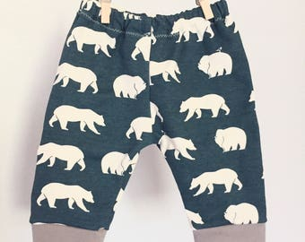 organic baby cuff pants size 3-6mo---ready to ship!