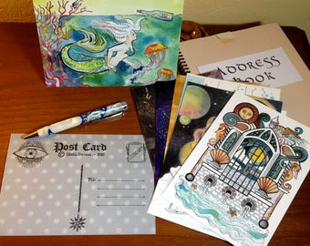Original Design Postcards (sci-fi, fantasy themed)