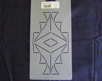 Sashiko Japanese/Traditional Embroidery/Quilting Stencil 4.5 in.by 7.5 in. Southwest Design Block