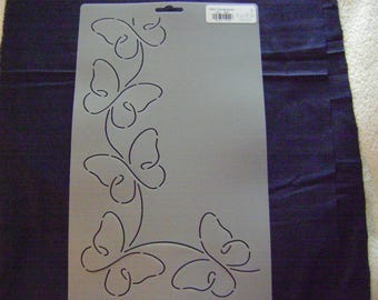 Sashiko Japanese Quilting/Embroidery Stencil 3.5 in. Butterfly Promise Motif Border and Corner /Quilting/44