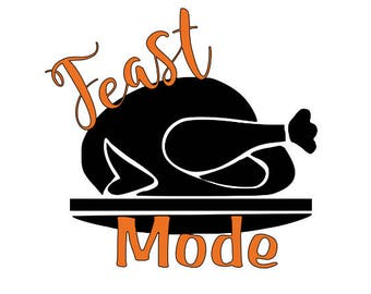 Feast Mode Thanksgiving Decal