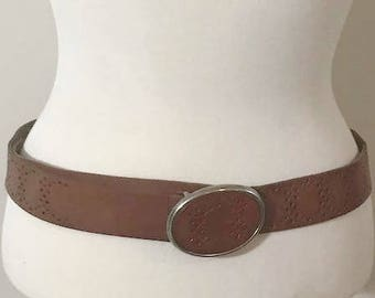 Aeropostale Genuine Leather with Big Silver Oval Buckle Features small holds all around Fits Small Medium and Large
