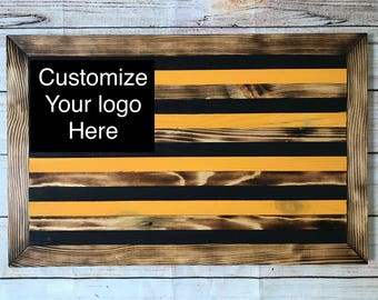 Missouri tigers wooden flag - customizable - ready to hang