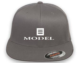 TESLA Model 3 Flex Fit Hat  Cap Baseball Thermo Film-Vinyl