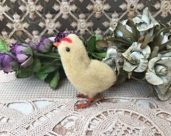 Sweet Little 1950's Spun Cotton Easter Chick
