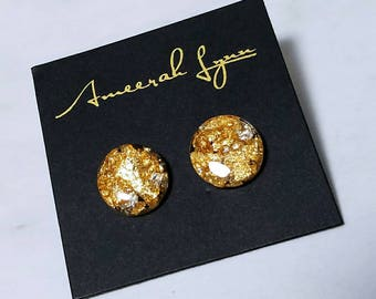 Gold and Silver Leaf Studs