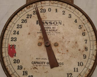 Antique Hanson Hanging Milk Scale