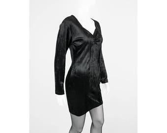 Vintage dress made of stretch Velvet