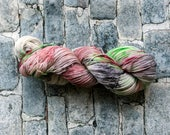 Yarn, Hand dyed yarn,Green Yarn, Red Yarn, Black Yarn Yarn  Superwash Merino/Nylon,Sock Yarn, Knitting Yarn, Crochet Yarn - Four Horsemen