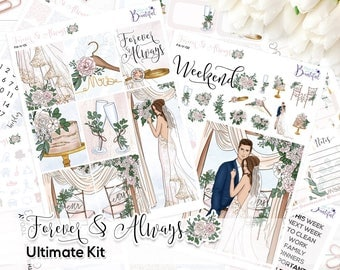 Forever & Always - Ultimate Weekly Kit - Removable Vinyl (Matte or Glossy) - Stickers for Erin Condren Vertical Life Planner