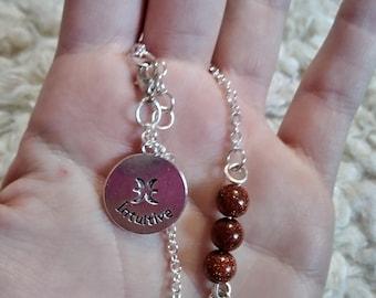 Pisces goldstone bracelet