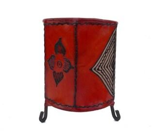 Orient Lantern Oriental Candle holder Light leather Henna Berber